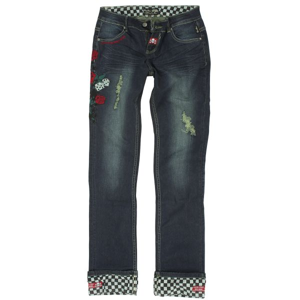 Rusty Pistons Damen Jeans Rose