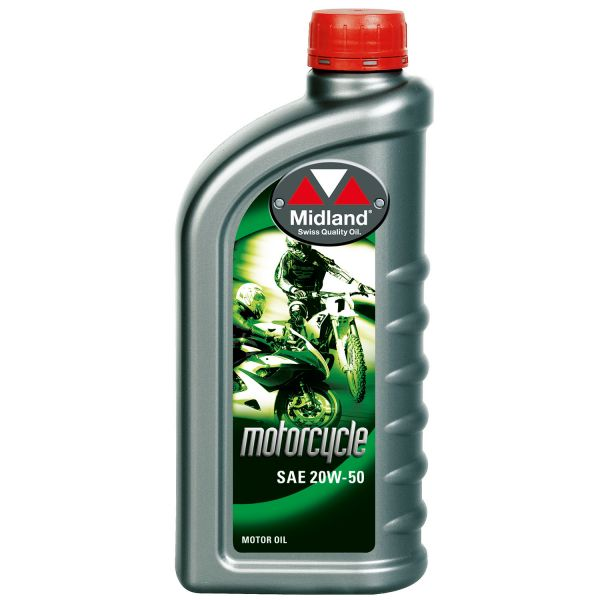 Midland Oil 20W-50 Motorcycle 1L Flasche