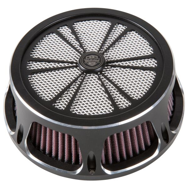 Midland Luftfilter Spoke chrome & schwarz
