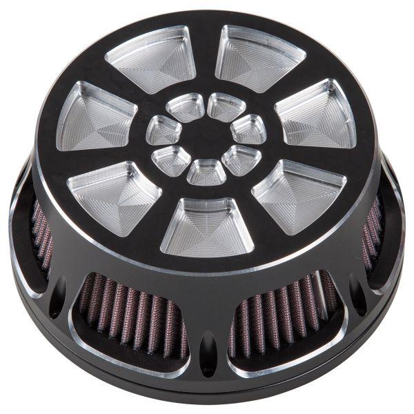 Midland Luftfilter Hemi Milled chrome & schwarz