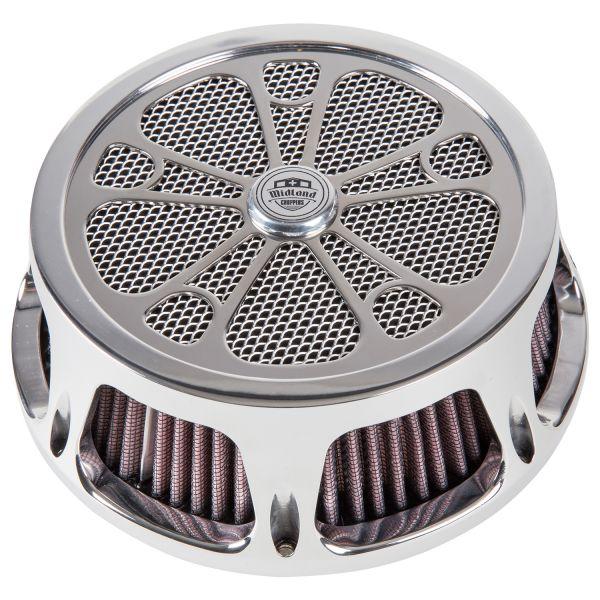 Midland Luftfilter Roulette chrome & schwarz