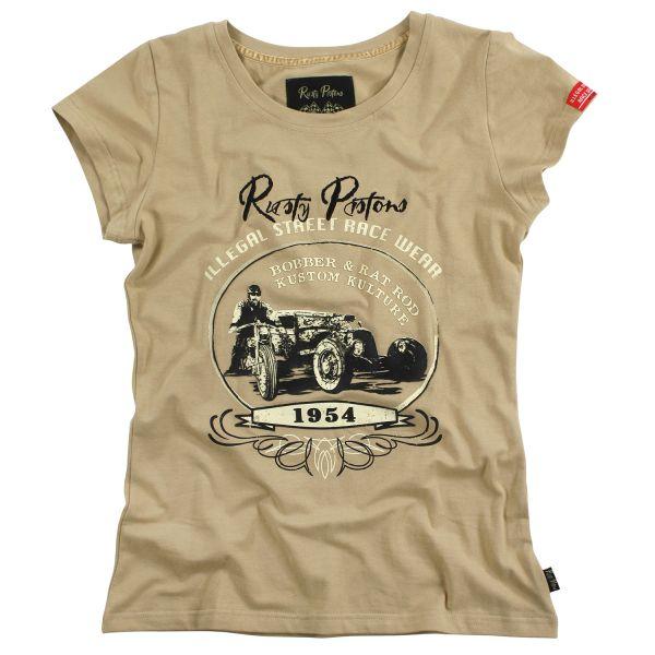 Rusty Pistons T-Shirt Corona Beige Damen
