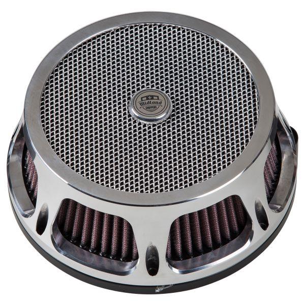 Midland Design Luftfilter Mesh chrome & schwarz
