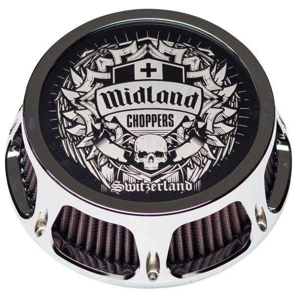 Midland Luftfilter Spezial chrome & schwarz