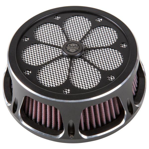 Midland Luftfilter Samurai chrome & schwarz